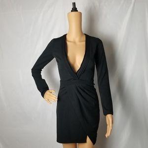 Tobi Ava Black Bodycon Long Sleeve Dress